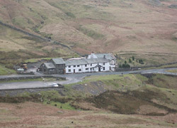 Kirkstone Pass Inn from the path to Red Screes